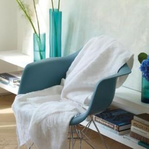 Plaid Melusine Chalk by Designers Guild