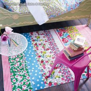 Løse tæpper Daisy Stripe Peony by Designer Guild