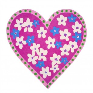 Løse tæpper candy hearts fuchsia by Designers Guild