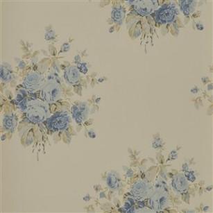 Tapet Wainscott Floral Vintage Blue by Ralph Lauren