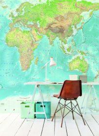 Tapet Wallpower Junior landkort by Fijffinger