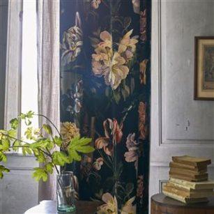 Stof Delft Velvet Noir by Designers Guild