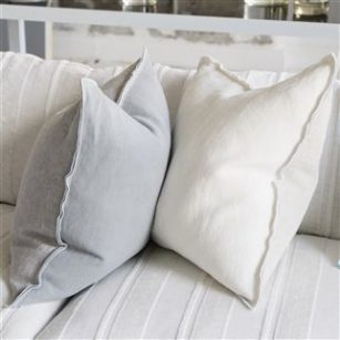 Pude Brera Lino Alabaster by DesignersGuild