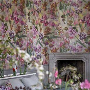Tapet Tulipa Stellata Fuchsia by Designers Guild