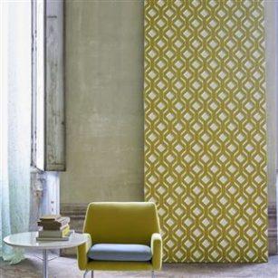 Designer tapet Chareau Chartreuse by DesignersGuild