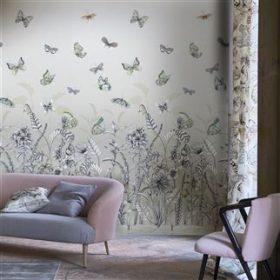 Tapet Papillons i to skønne varianter by DesignersGuild