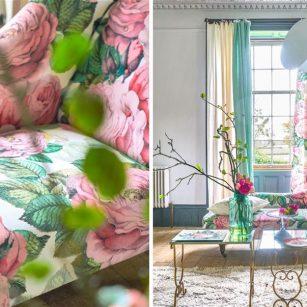 Gardin og møbelstof Rose Tuberose by John Derian