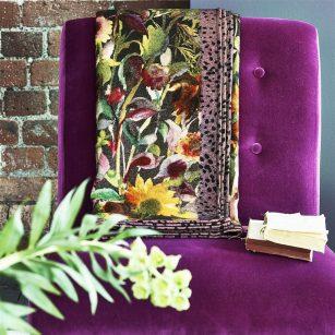 Plaid Indian Sundflower graphite by DesignersGuild