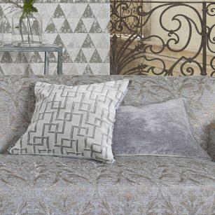 Designerpude Jeanneret Platinum by Designers Guild