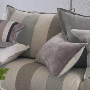 Designerpude Brera Gessato zinc by DesignersGuild