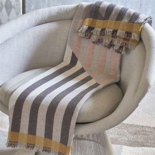 Designer plaid Arlecchino dove by Designers Guild