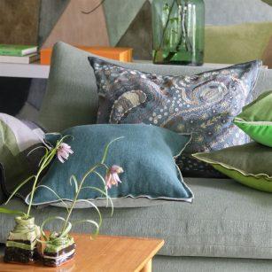 Designerpude Uchiwa Teal by DesignersGuild