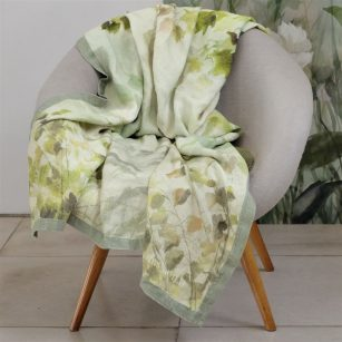 Designer plaid Maple tree Celadon by DesignersGuild