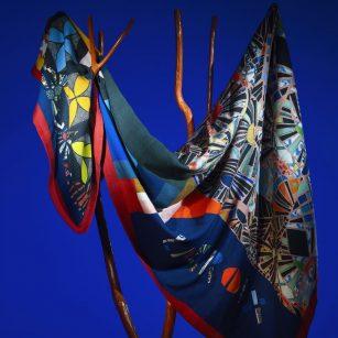 Designer plaid Mosaic Freak Multicolore by Christian Lacroix