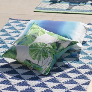 Designerpude Brahmi Leaf outdoor by DesignersGuild