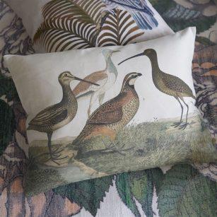 Designerpude Birds of a Feather Parchment by John Derian