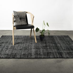 Løse tæpper Bergen Black & Grey by HC