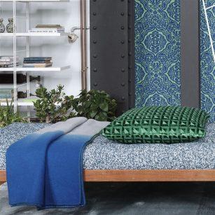 Designer Plaid Saraille Cobalt Ombre by Designers Guild
