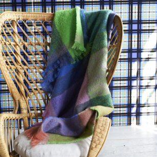 Designer plaid Varanasi Fuchsia by Designers Guild