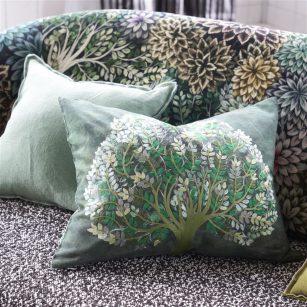 Designer pude Bandipur Emerald Cotton/Linen by Designers Guild