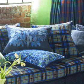 Designer pude Bandipur Azure Cotton/Linen by Designers Guild